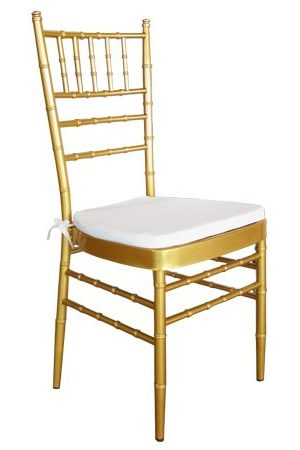 gold tiffany chair hire