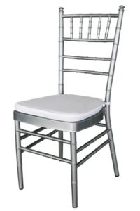 silver tiffany chair hire