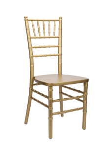 wedding chair gold