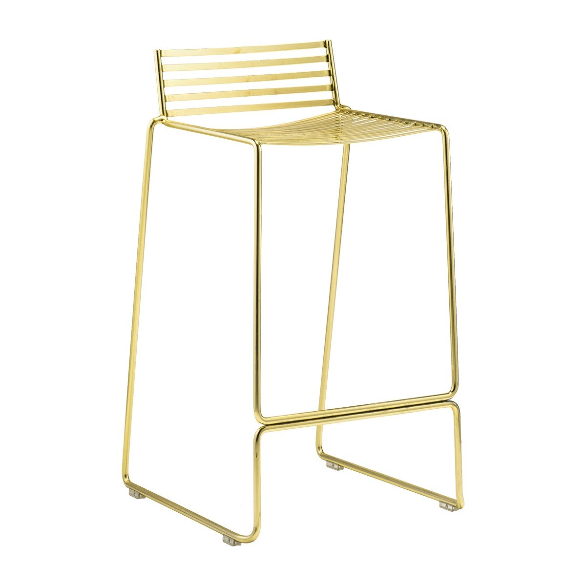 Wire Stool Gold Black Label