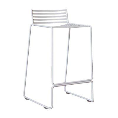 Wire stool white