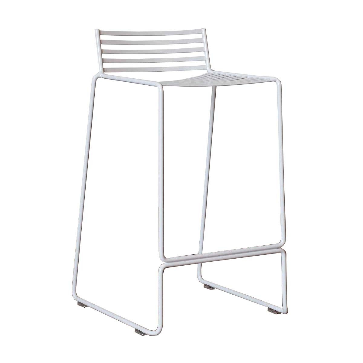 Wire Stool White Black Label