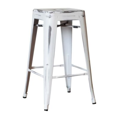Tolix stool (antique white)
