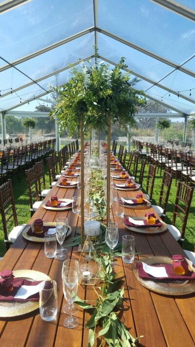 Wooden Banquet Table hire