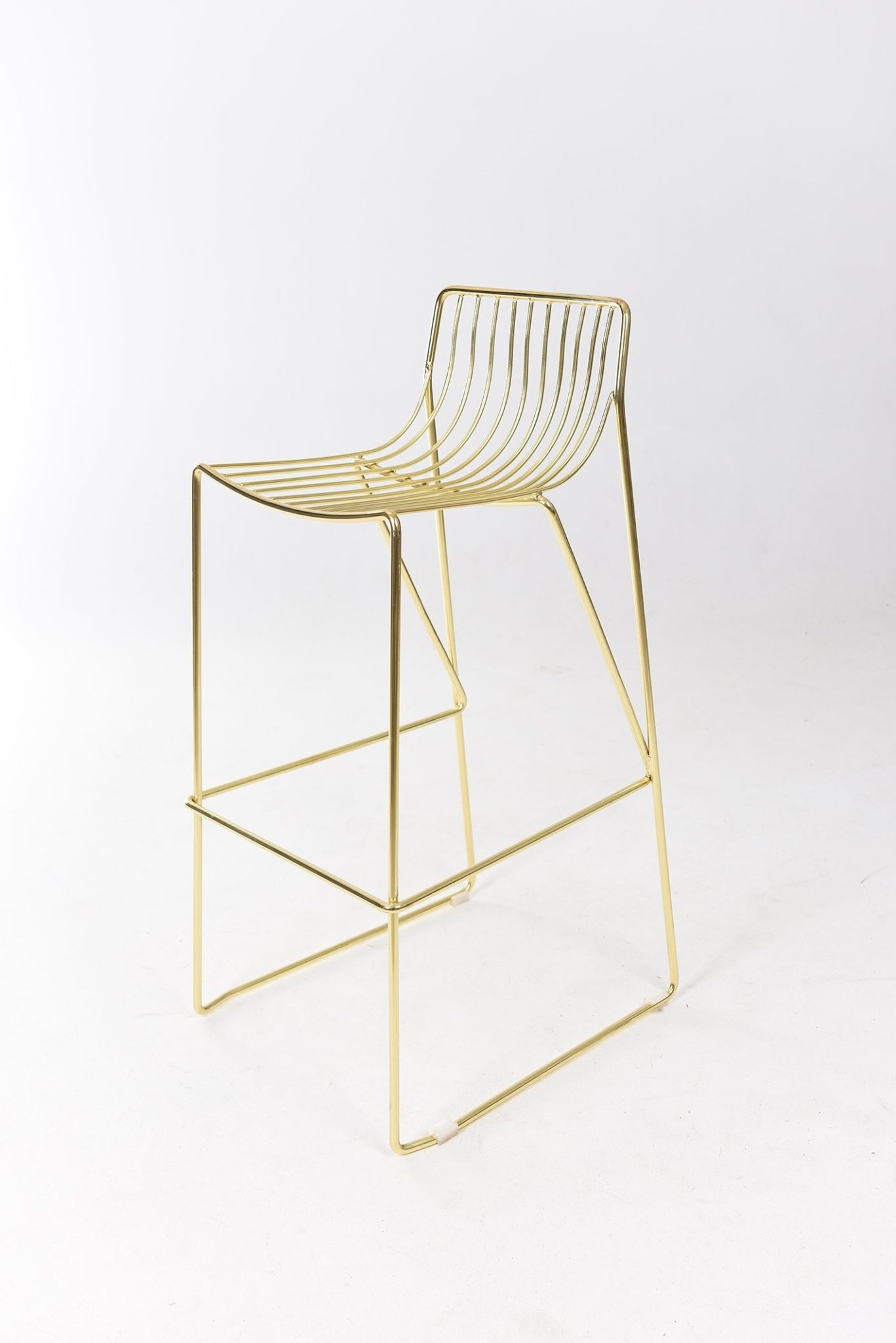 Wire Bar Stool Gold Black Label