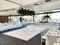 White gloss dance floor hire perth