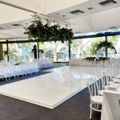 White gloss dance floor hire perth