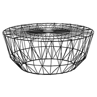 wire coffee table black