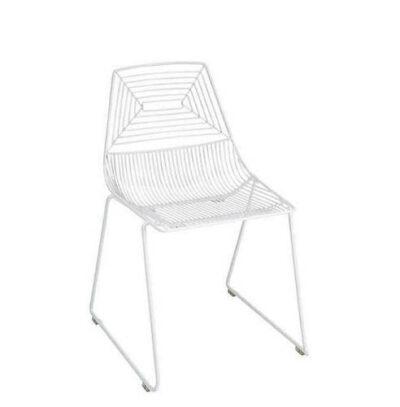 wire chairwhite
