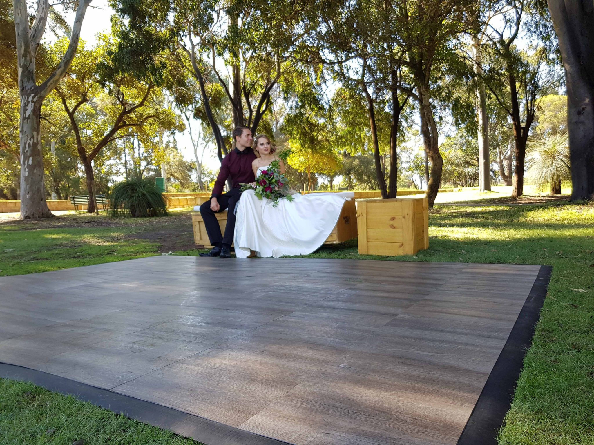 wood dance floor hire