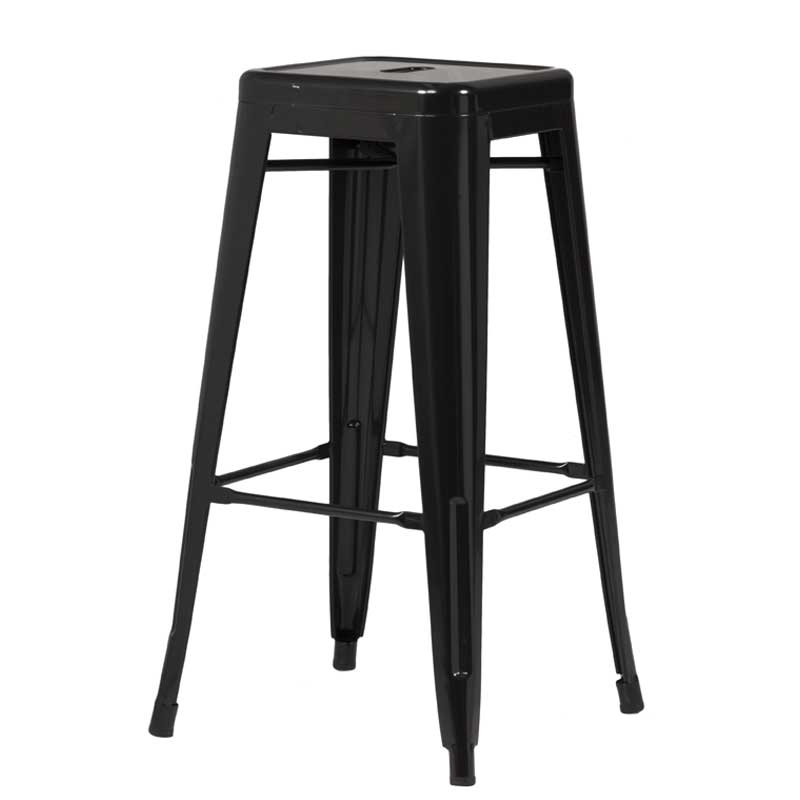 tolix stool black black label