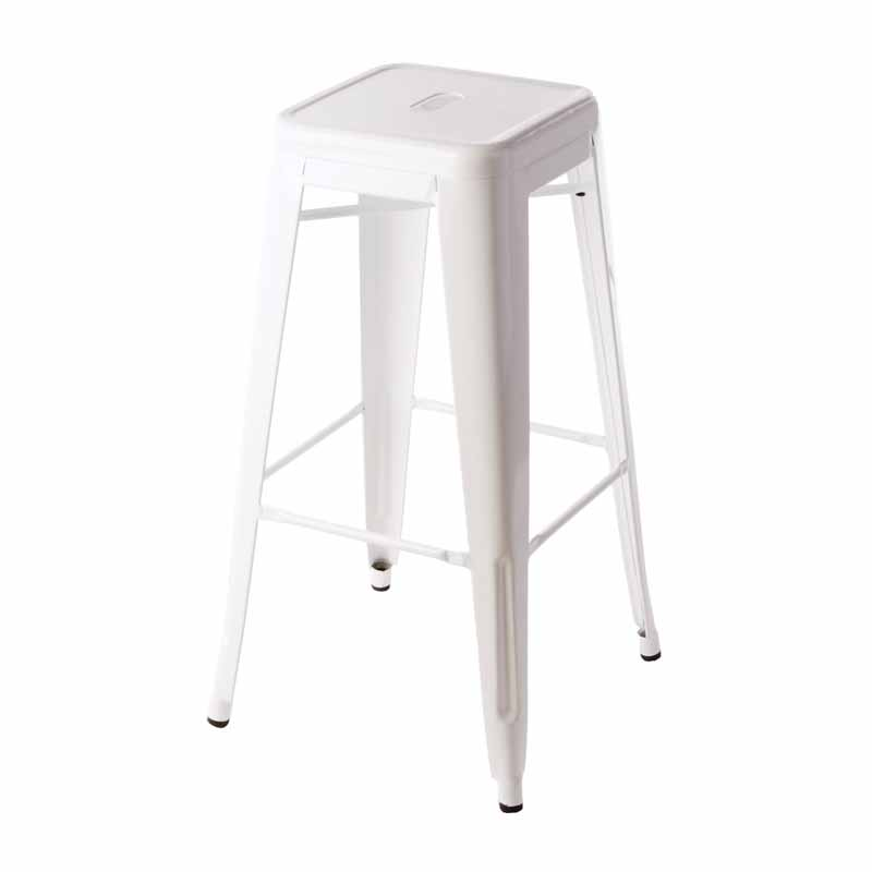 tolix stool white black label