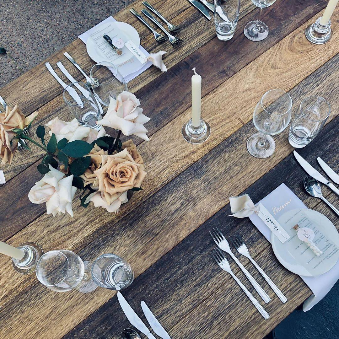 Trestle Table Hire Perth Black Label