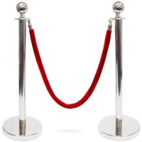 Chrome Stanchions Hire Perth