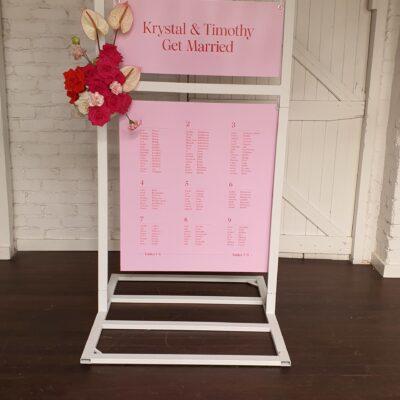 wedding welcome chart perth