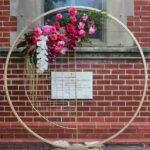 Gold Round Wedding Arch