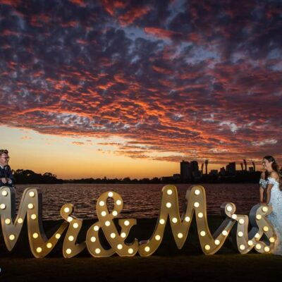 Light up letter hire Perth