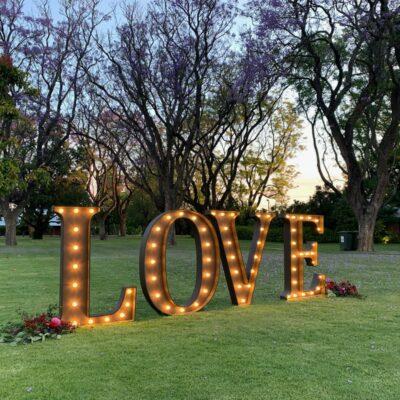 love lightup letters wedding
