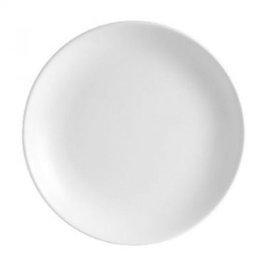 white entree plate hire