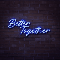 better together neon sign hire