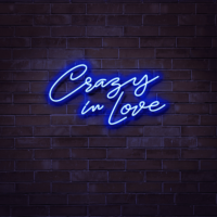 crazy in love neon sign hire