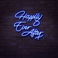 happily ever after neon sign hire