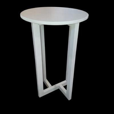 white bar table hire