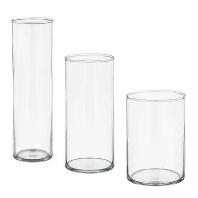 Glass wedding vases for hire