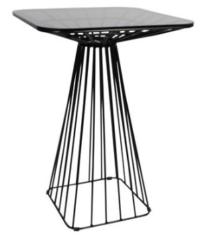 black dry bar table hire Perth